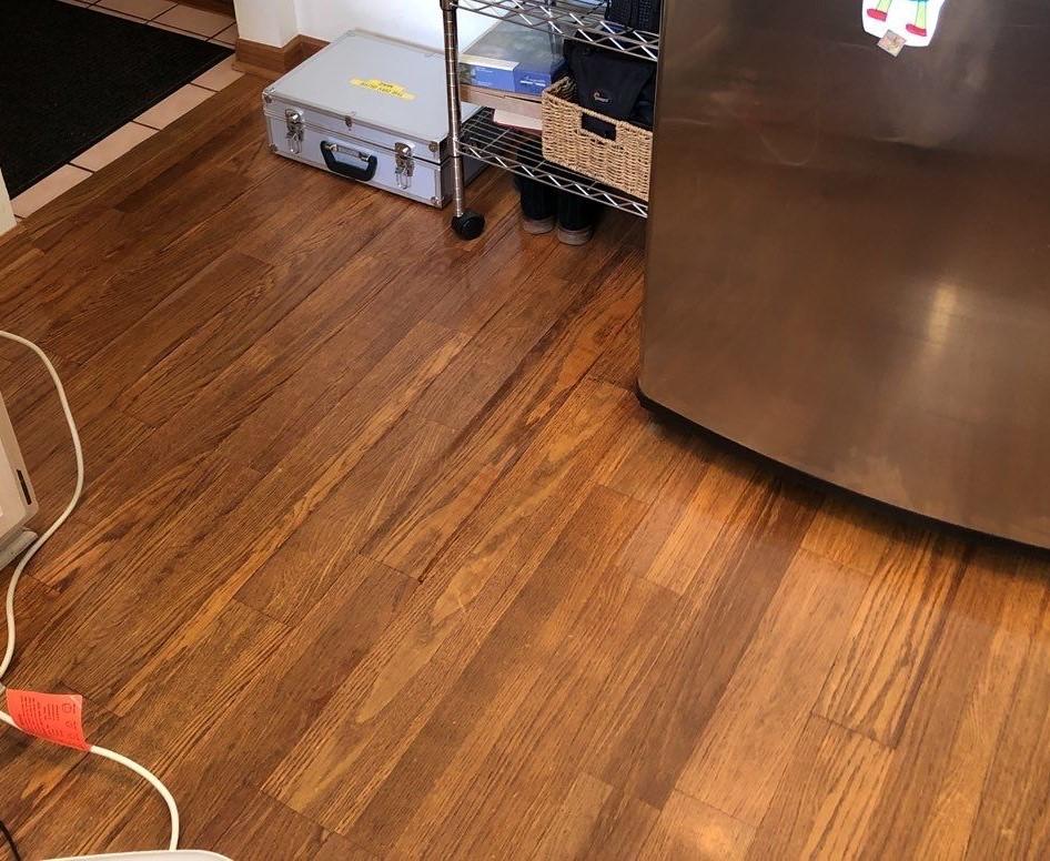 Hardwood floor – Suspected Leak from Dishwasher