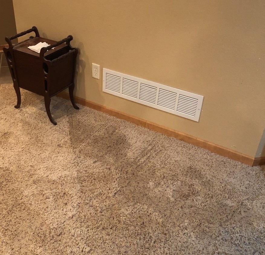 More wet carpeting