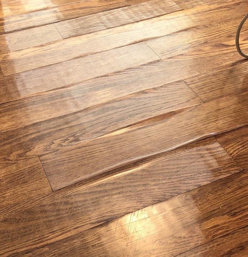 Wet floor buckling