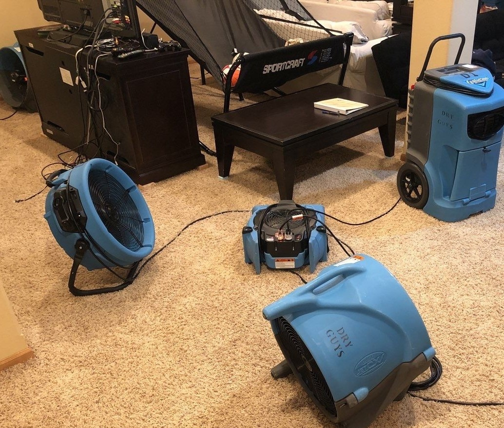 dealing with water damage after a spring flood, the dry guys, kenosha water damage restoration