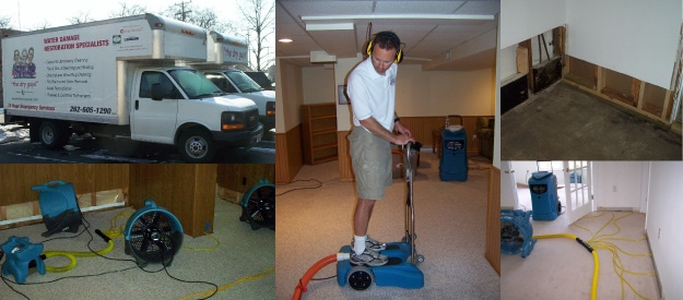 the dry guys, water damage cleanup, kenosha flood cleanup